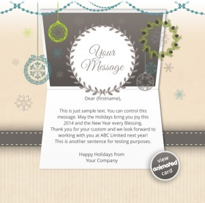 Interactive Christmas HTML5 eCard eCards for Business: Animated Decorations