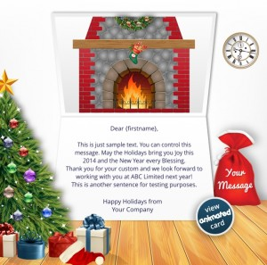 Interactive Christmas HTML5 eCard eCards for Business: Animated Wreath