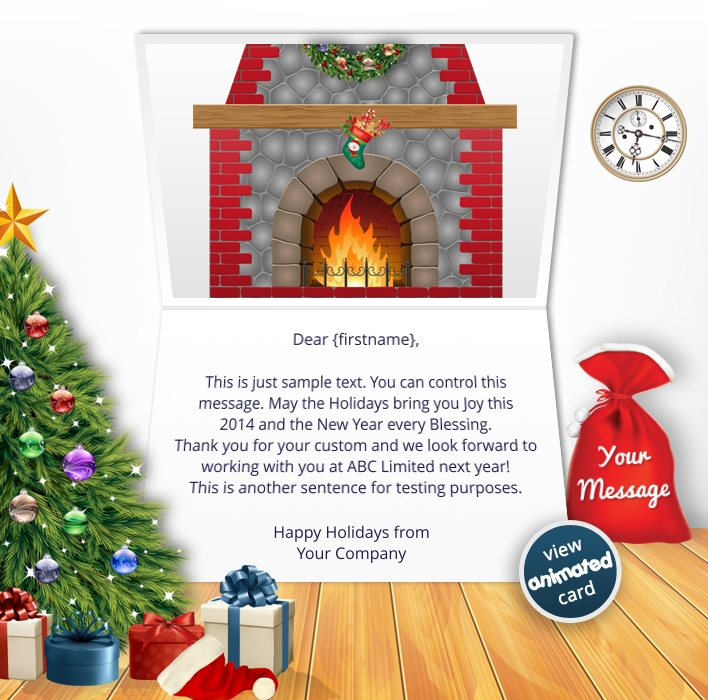 Animated Webpage eCards for Business: Animated Wreath