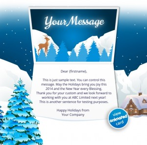 Interactive Christmas HTML5 eCard eCards for Business: Animated Mountains