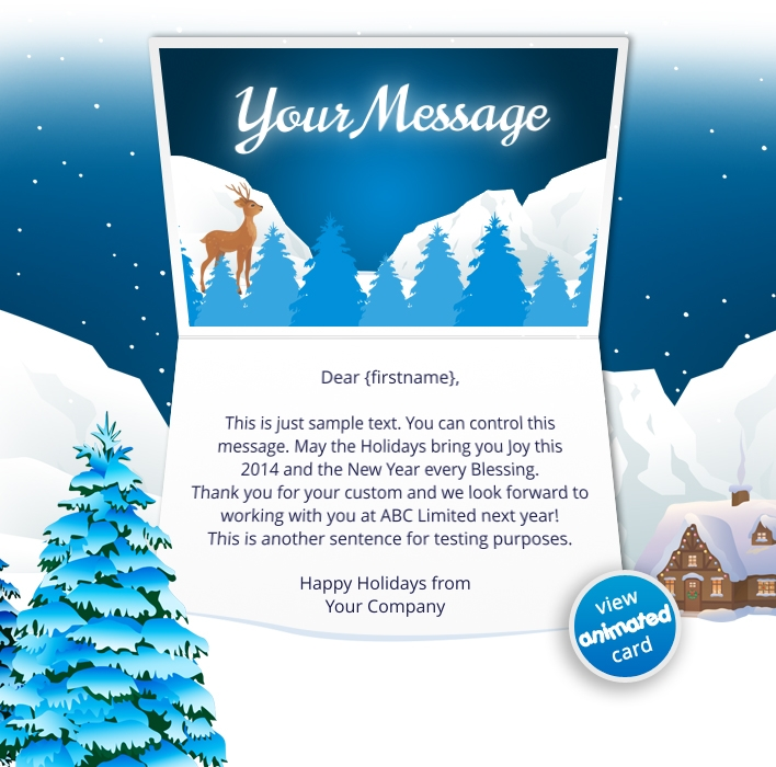 Animated Webpage eCards for Business: Animated Mountains