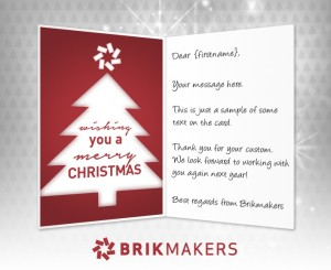 Custom Holiday eCard eCards for Business: Brikmakers