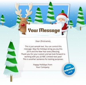 Custom Holiday eCard eCards for Business: Animated Reindeer