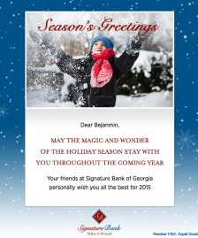 Holiday eCards Gallery Custom eCards for Business: SBG Holiday