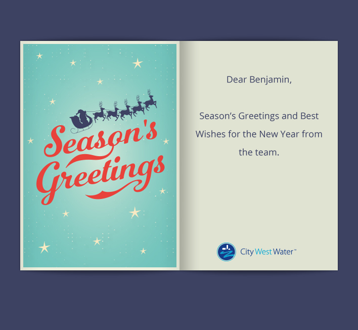 Custom Holiday eCard eCards for Business: City West Xmas