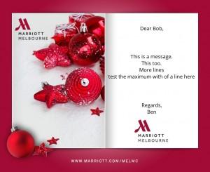 Custom Holiday eCard eCards for Business: Marriott Xmas