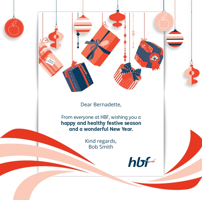 Custom Holiday eCard eCards for Business: HBF Xmas