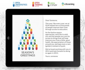 Company Christmas Cards eCards for Business: Open Universities