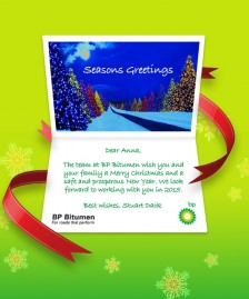 Company Christmas Cards eCards for Business: BP Xmas