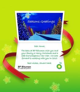Company Christmas Cards eCards for Business: BP Xmas