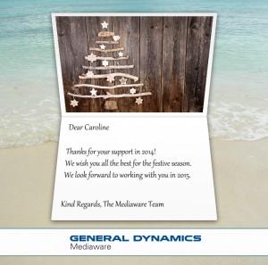 Company Christmas Cards eCards for Business: Mediaware Xmas