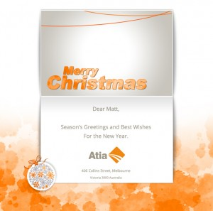 Company Christmas Cards eCards for Business: Atia Xmas