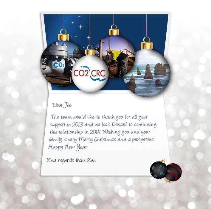 Company Christmas Cards eCards for Business: CO2CRC Xmas