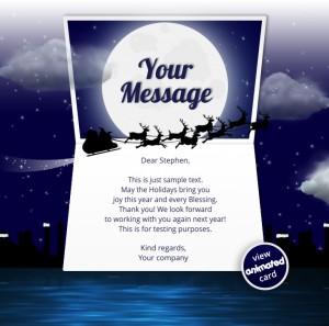 Company Christmas Cards eCards for Business: Animated Sleigh