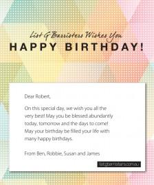 Custom Corporate Birthday eCards eCards for Business: ListG Birthday New