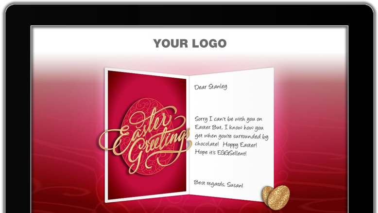 Branded easter ecards for business greet your customers with premium branded easter ecards m4hsunfo