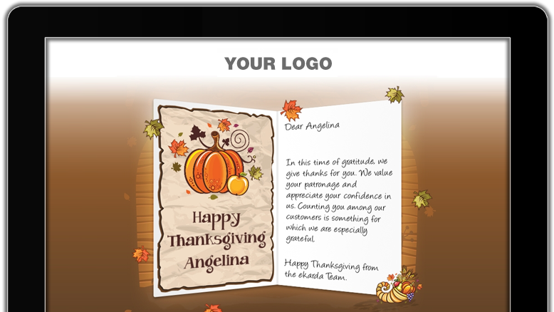 Business thanksgiving cards company greeting ecards thanksgiving day thank your customers with premium branded thanksgiving ecards m4hsunfo Images