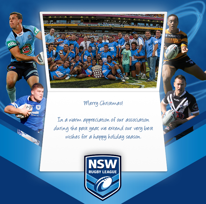 Holiday eCards Gallery Custom eCards for Business: NSW Rugby Custom