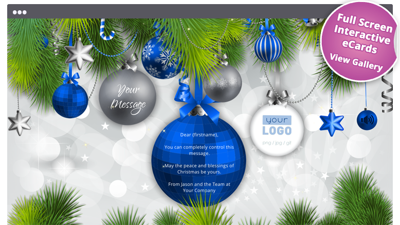 corporate ecards christmas holiday - Christmas Decorations For Businesses