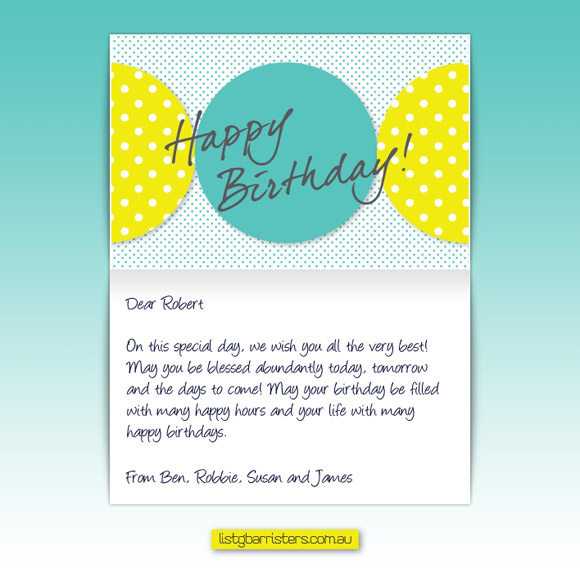 Brief Create A Fun And Engaging Birthday ECard That Adhered To List G Barristers Strict Corporate Style Guide Inclusive Of The Company Logo