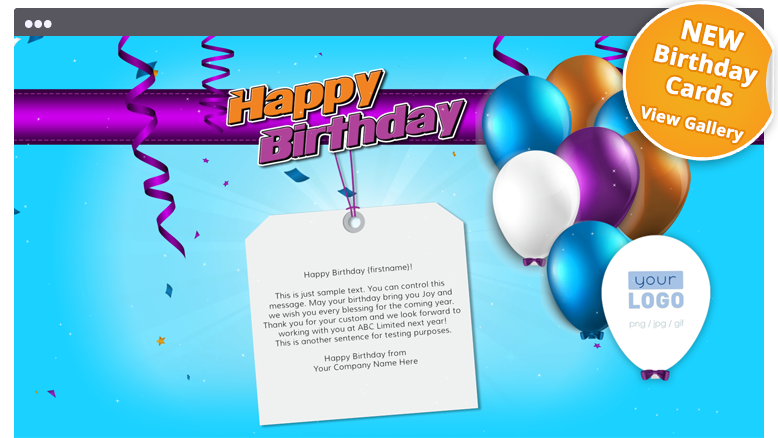 Corporate birthday ecards employees clients happy birthday cards elegantly simple corporate birthday ecards bookmarktalkfo Images