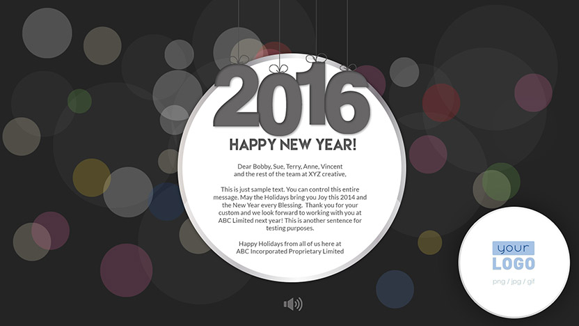 New Year Corporate New Year eCard 2015 - Dark