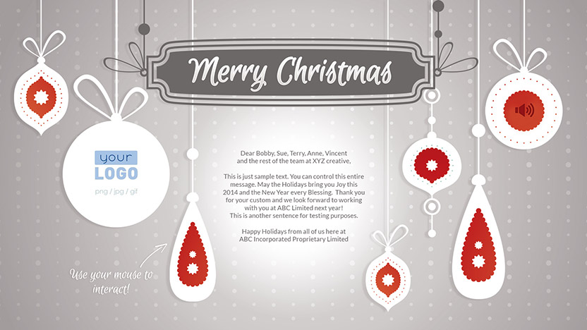 Corporate Christmas eCard 2015 - Simple Decorations