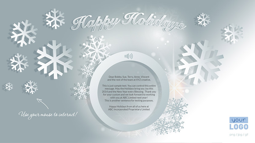 Corporate Holiday eCard 2015 - Snowflakes