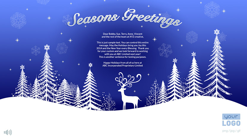 Corporate Holiday eCard 2015 - Snow Scene
