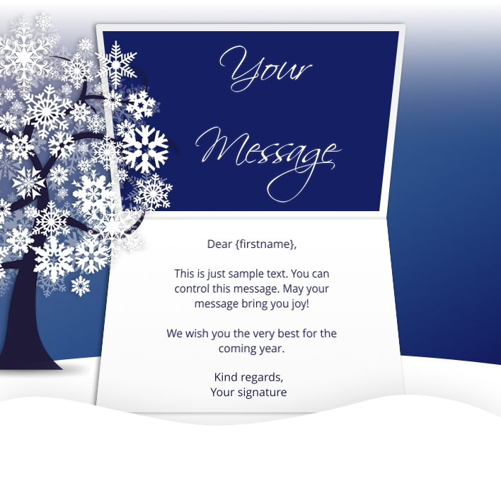 Static Christmas eCards for Business: Snowflake Tree