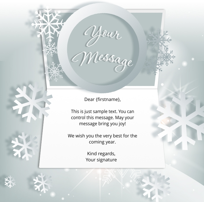 Christmas ecards for business electronic xmas holiday cards white snowflake static christmas reheart Image collections