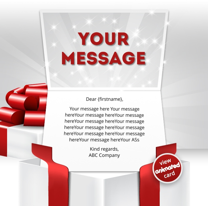 Interactive Thank You/Anniverdary/Employee Recognition eCards for Business: Animated Thank You Gift