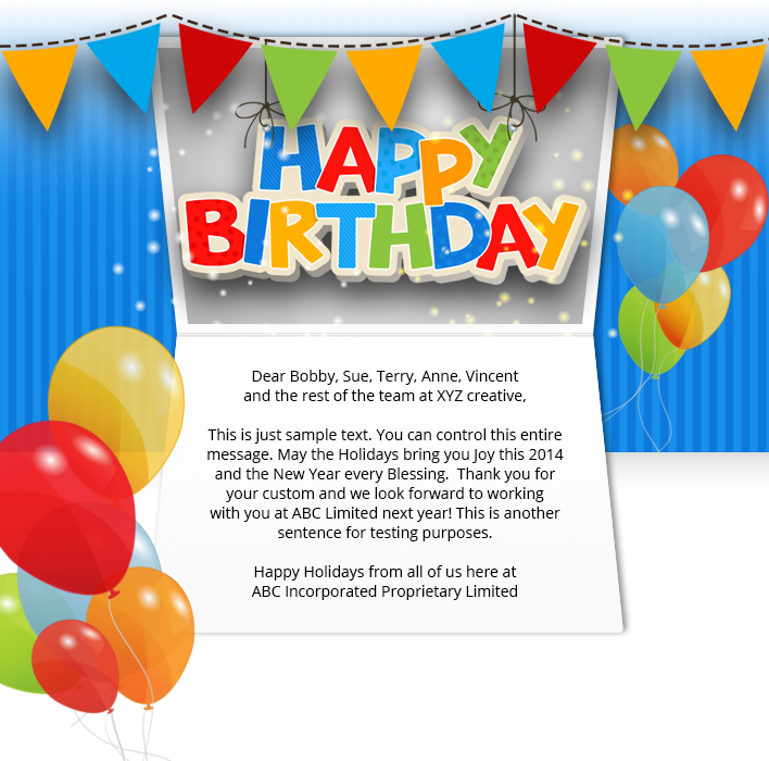 Corporate Birthday ECards