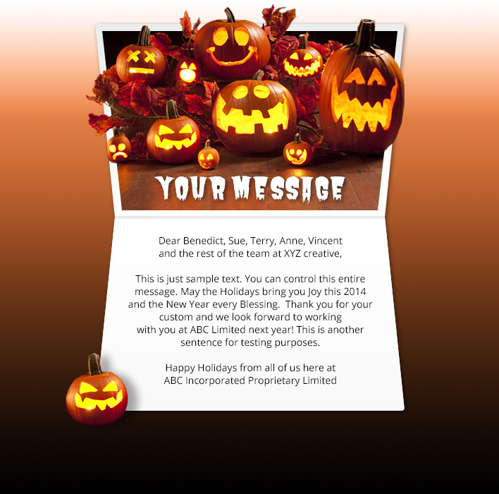Halloween eCards for Business: Carved Pumpkins