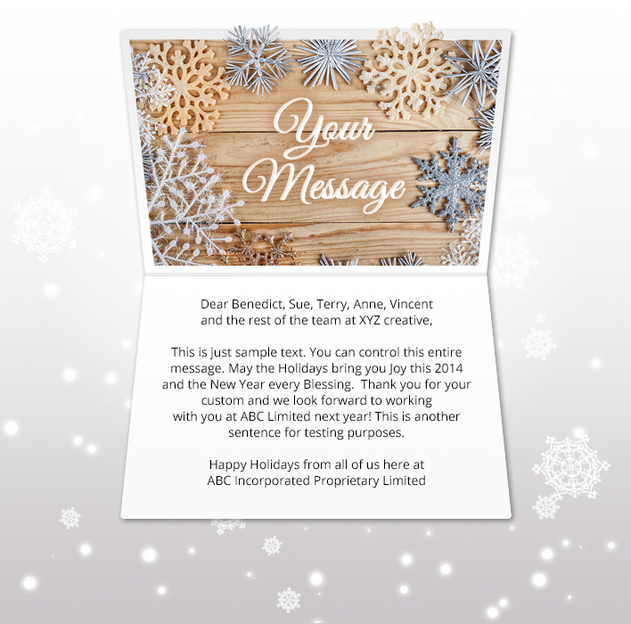 Holiday eCards Gallery Static eCards for Business: Snowflake Collage