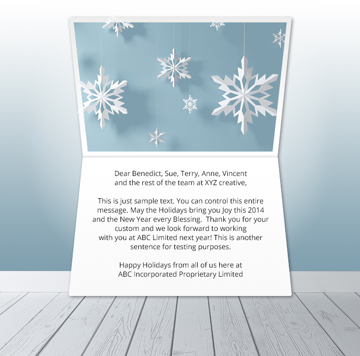 Holiday eCards Gallery Static eCards for Business: Snowflake Mobile