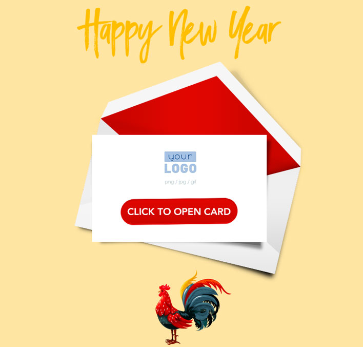 Interactive Chinese Lunar New Year 2017 eCards for Business: Catch Rooster Teaser