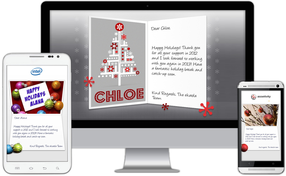 Personalised Business New Year eCards Compatible with All Devices