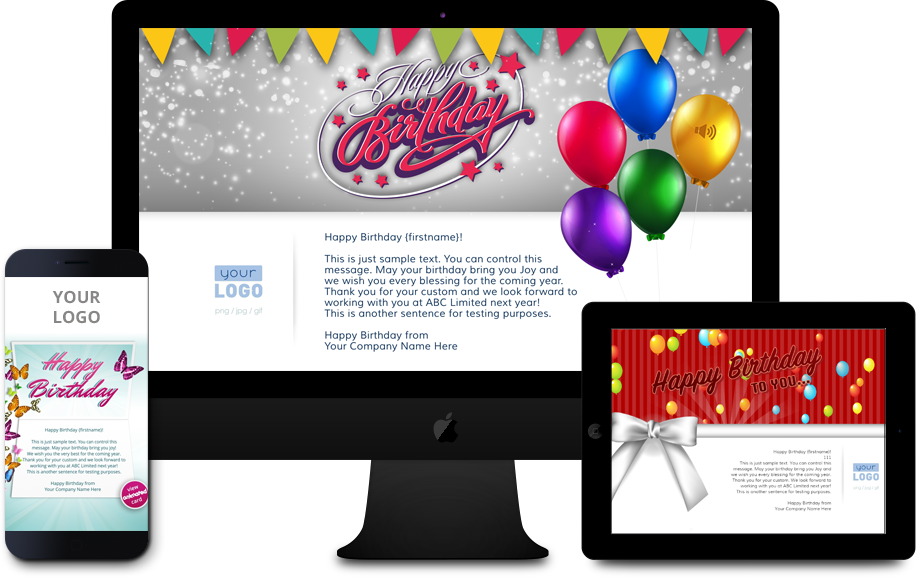 Personalised Business Birthday ECards Compatible With All Devices