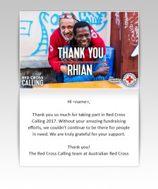 Thank You Static eCards eCards for Business: Red Cross Calling