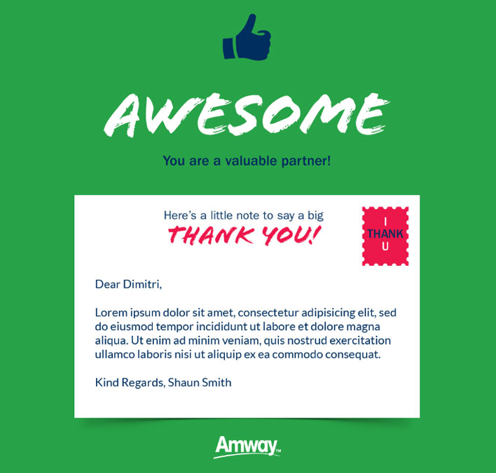 Thank You Static eCards eCards for Business: Amway Awesome