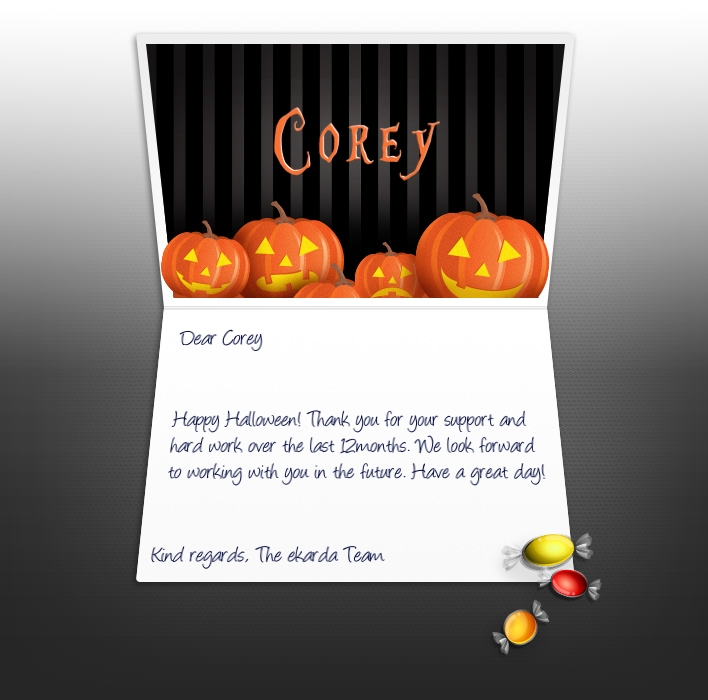Halloween eCards for Business: Haloween Pumpkins