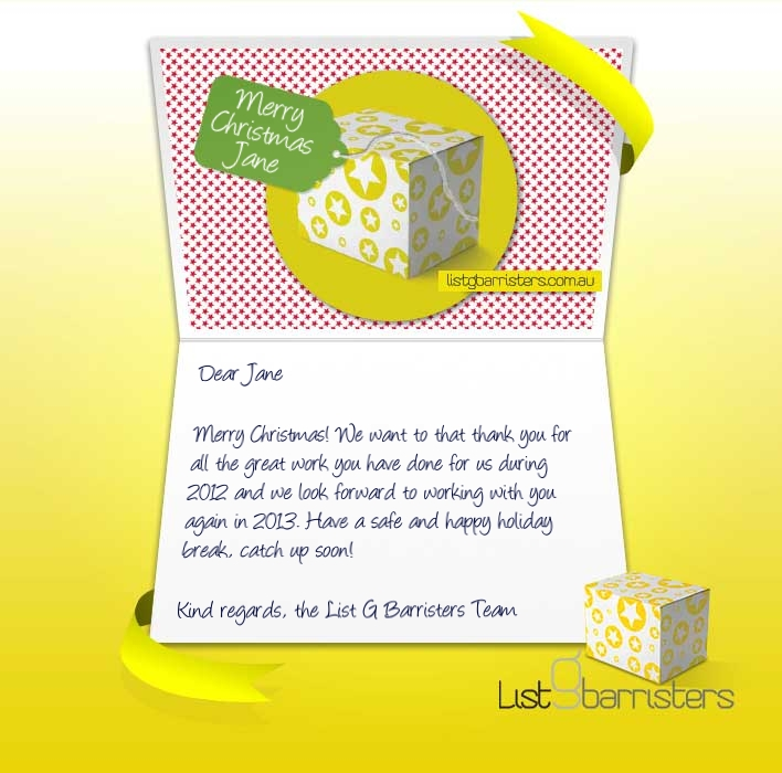 Custom Corporate eCards eCards for Business: List G Xmas Yellow