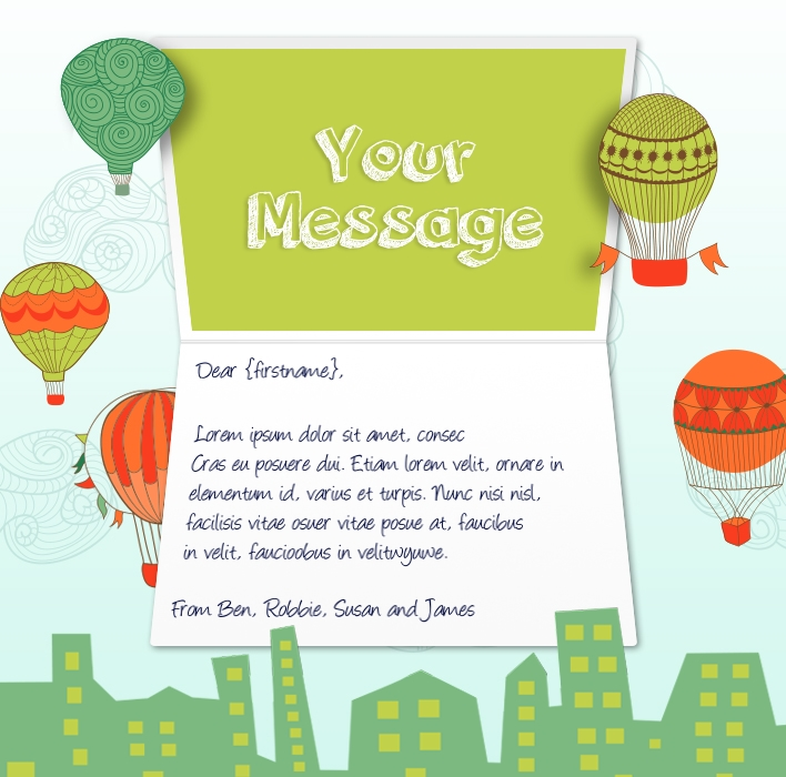 Static Company Birthday eCards eCards for Business: Balloon Ride