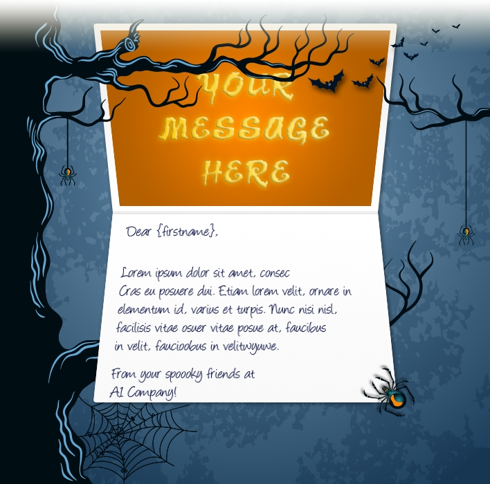 Halloween eCards for Business: Haunted Tree
