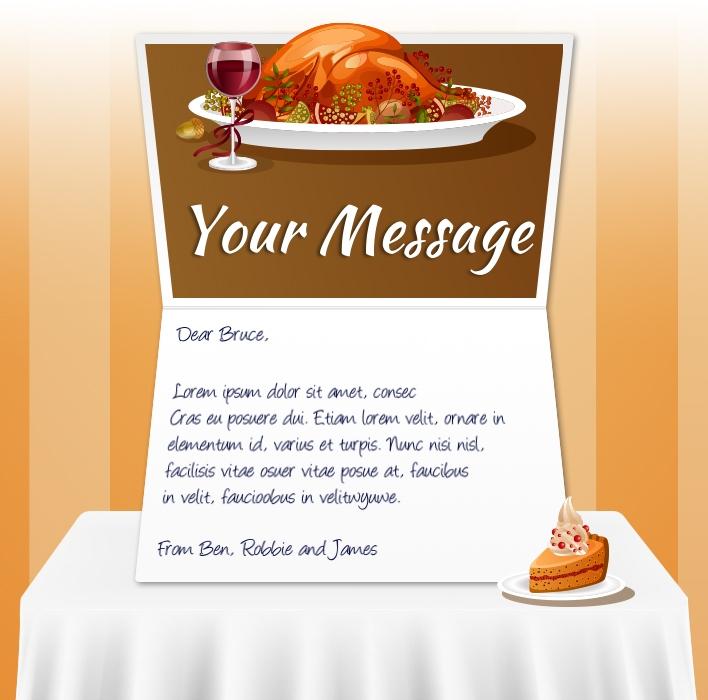 Thanksgiving eCards for Business: Turkey Dinner