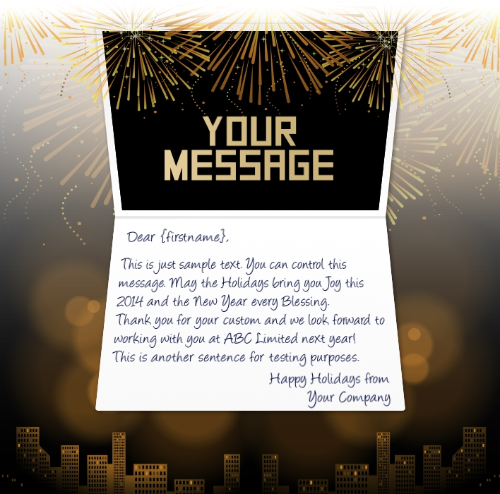 Business Greeting Cards New Year Messages Image collections - Card ...