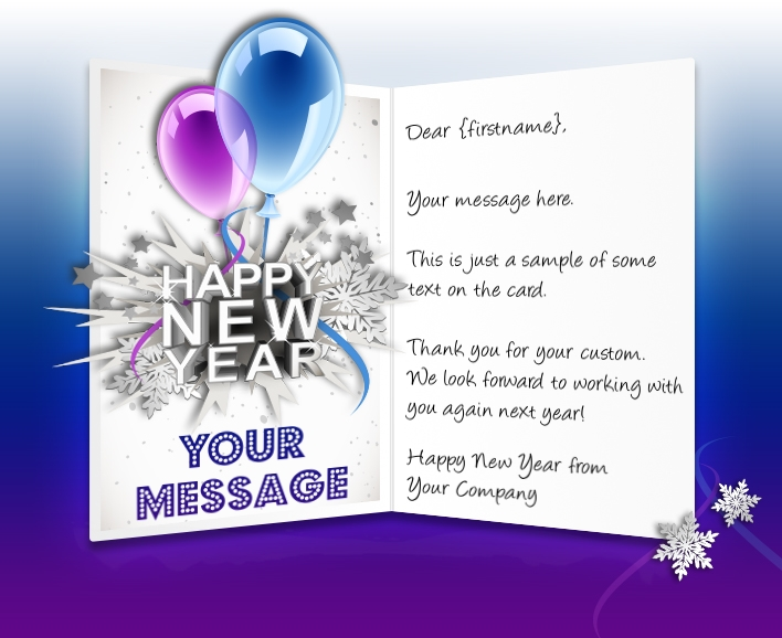 Business new years cards corporate happy new year greeting ecards balloons new year m4hsunfo