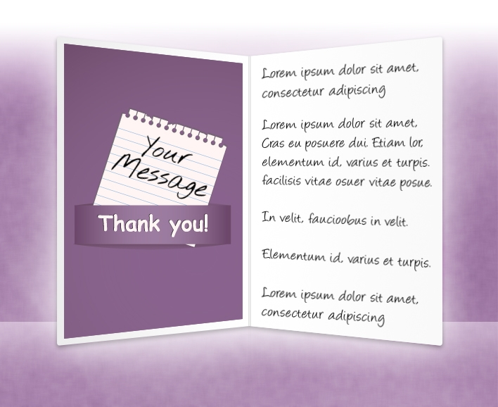 Thank You eCards for Business: Note Purple