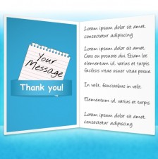 Thank You eCards for Business: Note Blue